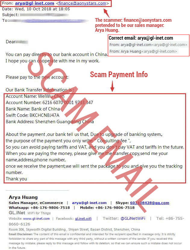 fraud email