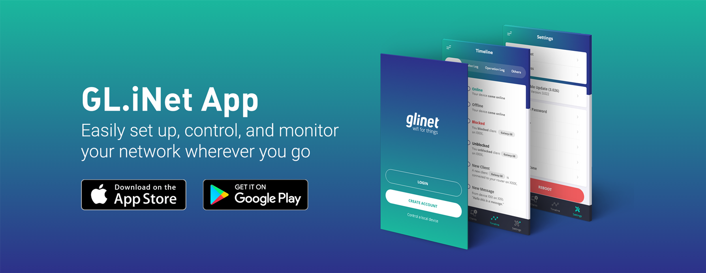 Getting the GL.iNet App via Apple App Store and Google Play Store