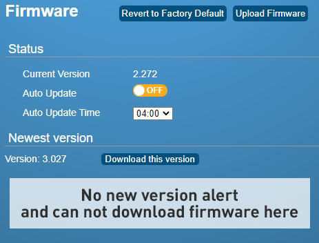 Firmware version 2.x