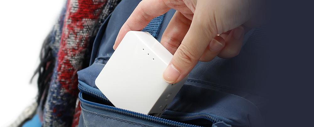 White Mini Travel Router