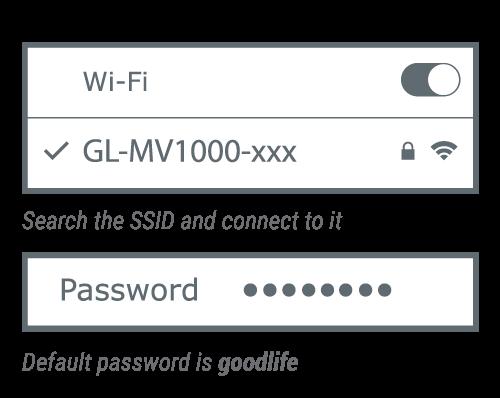connect via Wi-Fi
