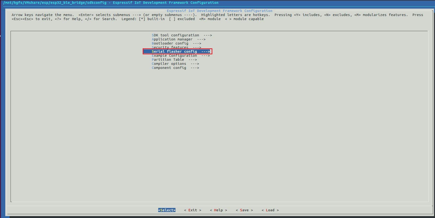 espressif iot development framework configuration