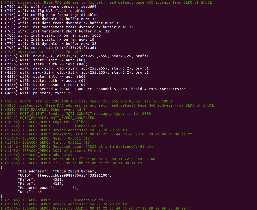 system log result