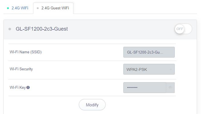 guest Wi-Fi 2.4g status