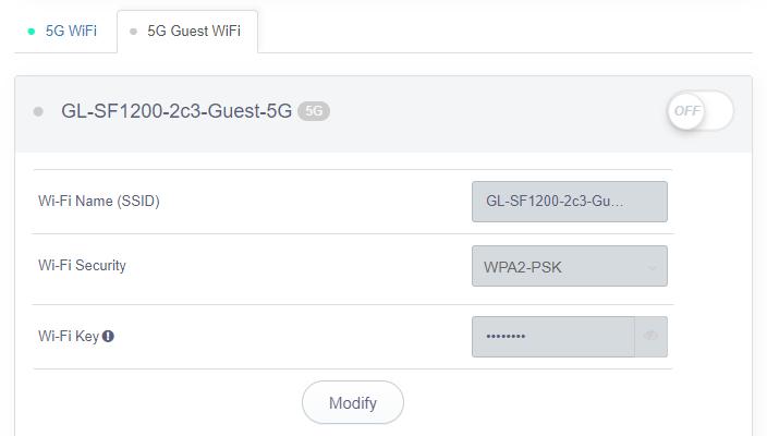 guest Wi-Fi 5g status