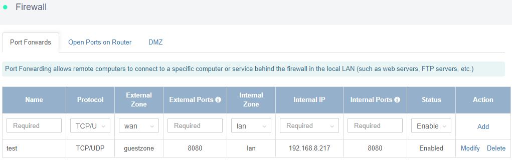 firewall page