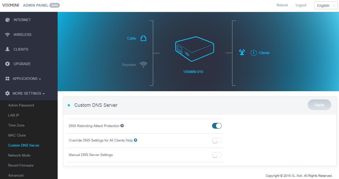 custom dns server