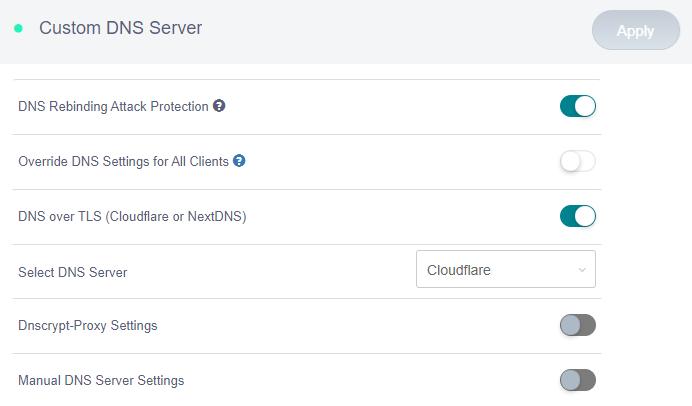 custom dns server cloudflare