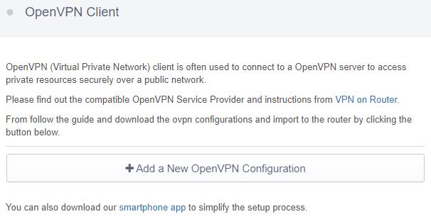 add a new openvpn configuration