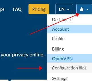 get ovpn configuration files