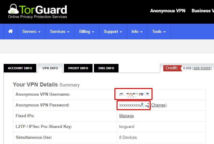 torguard vpn username vpn password