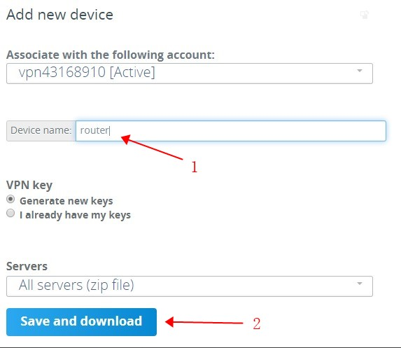 VPN.AC create wireguard profiles