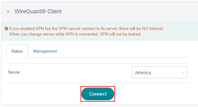 connect wireguard