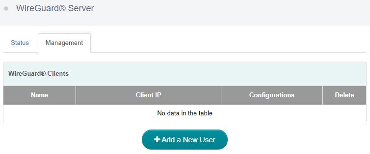 Add a wireguard client user