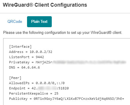 wireguard configuration