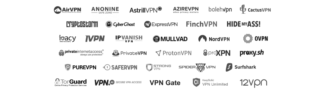 30+ Commercial VPN provider