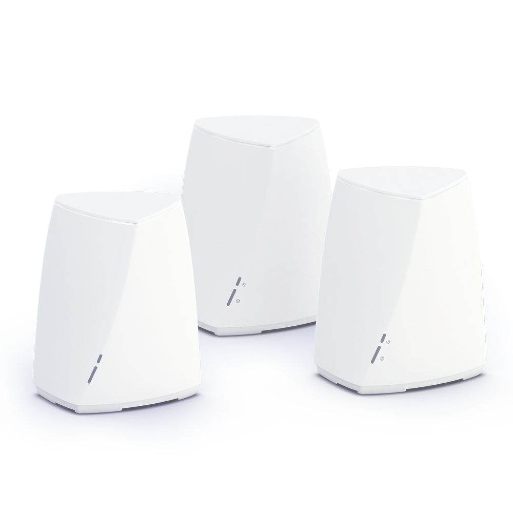 Mesh network with three routers