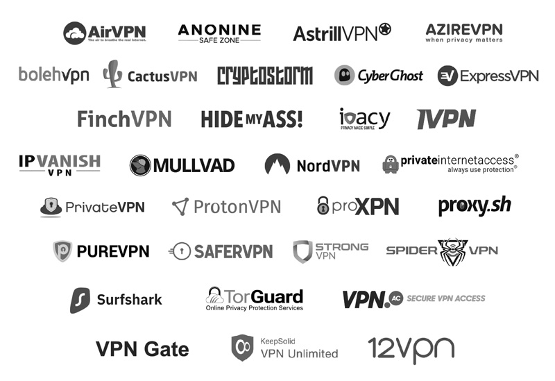 30+ Commercial VPN services provider