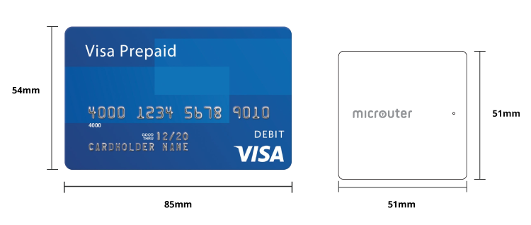 size compare with credit card